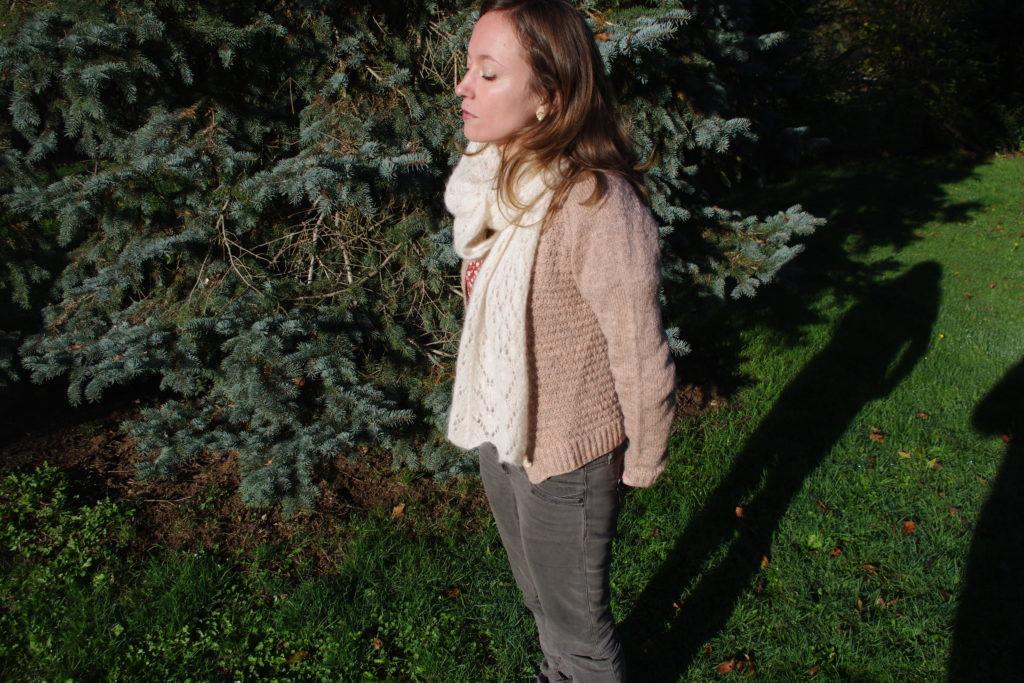 gilet tricot Lady Brioche