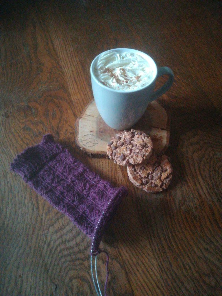 tricot chaussettes pumpkin spice latte