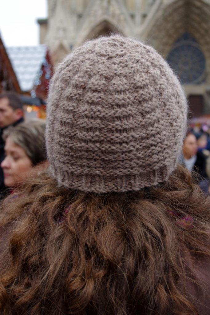 Bonnet damier a l 39 ombre du cactus for L univers de la laine