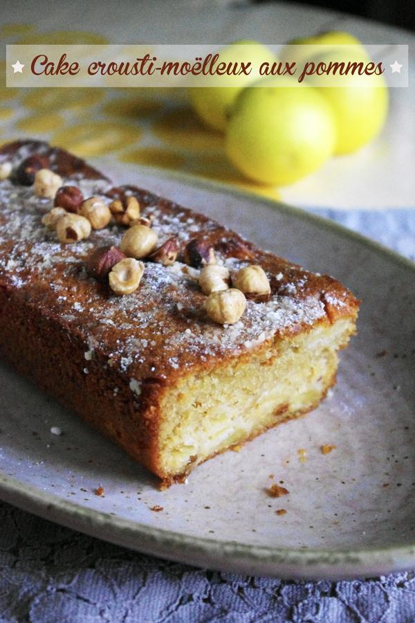 Cake crousti moelleux aux pommes et aux noisettes