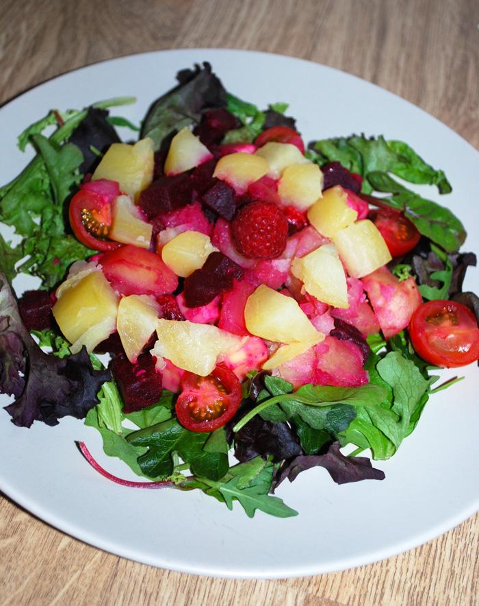 salade de pommes de terre colorée