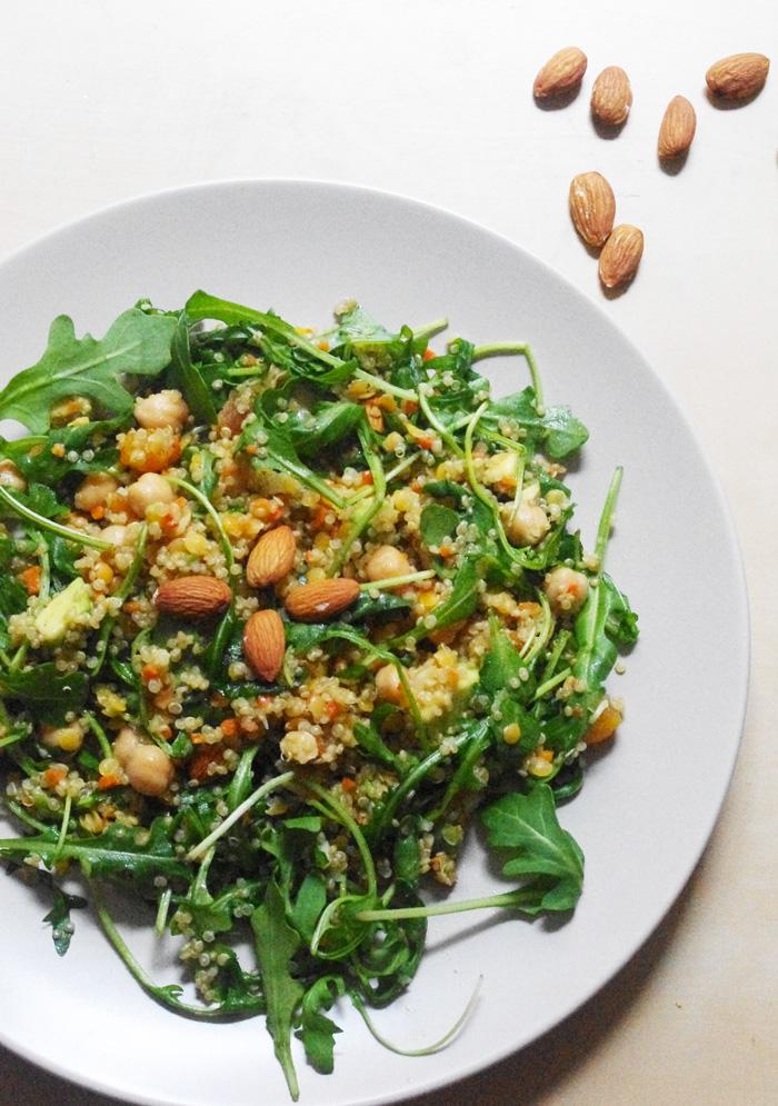 salade quinoa abricot roquette