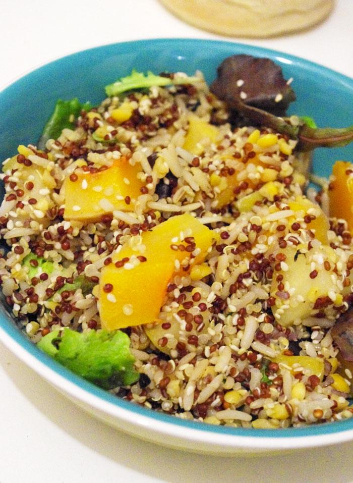 salade quinoa, pomme et butternut