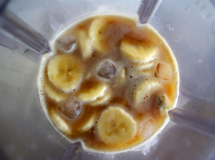 smoothie banane cafe vegan