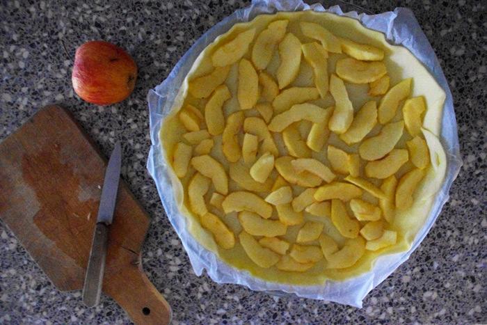 tarte pommes camembert