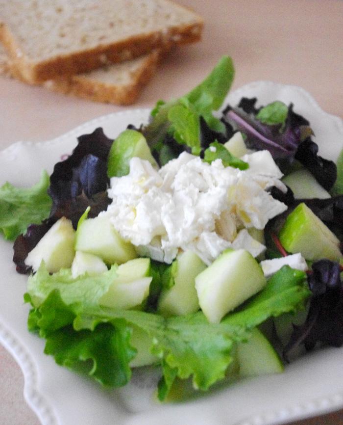 salade pomme chèvre
